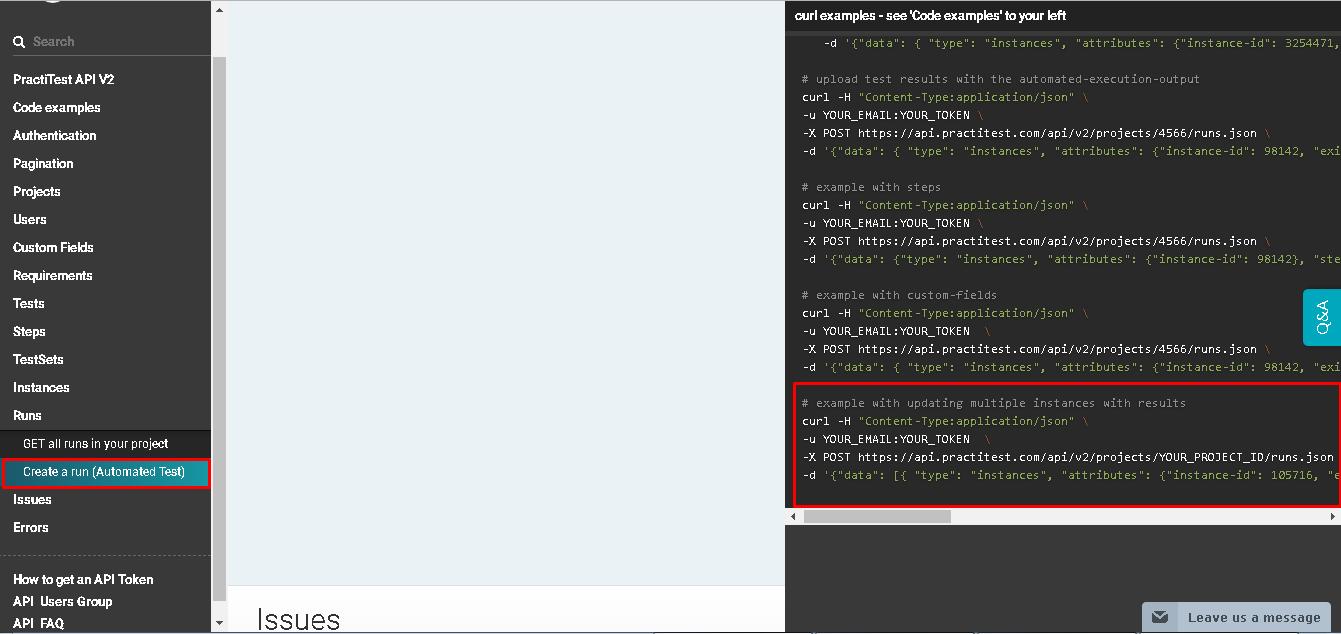 Bulk Update Run Results and Bulk Create Instances - API - PractiTest